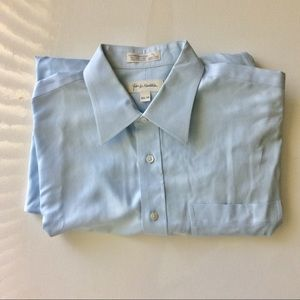 Dress Shirt Blue by John W. Nordstrom Size 16.5 34